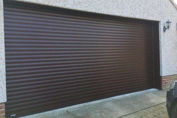 Big brown garage door