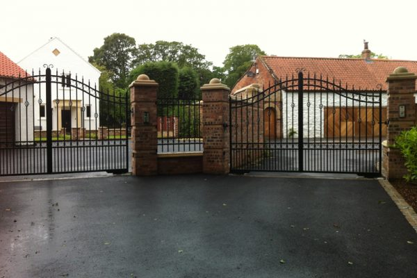 Pair Iron Gates