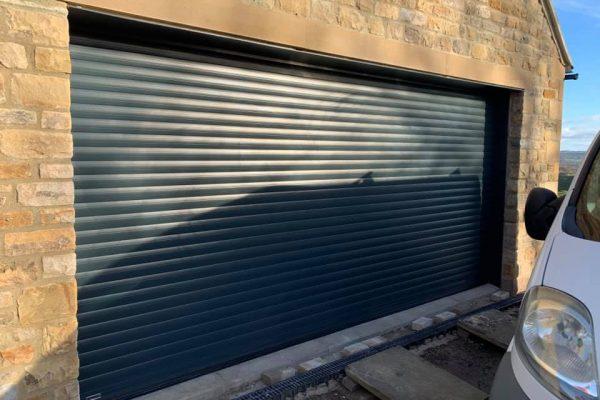 Garage Door Black Double