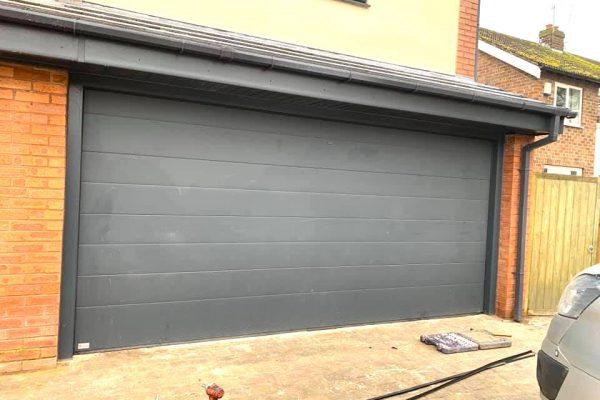 Garage Door Double Grey