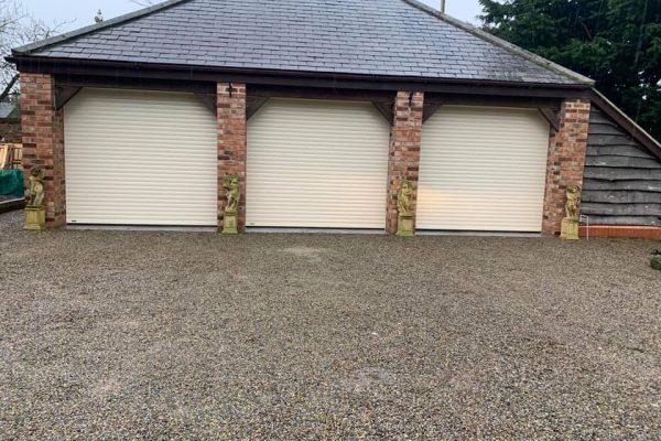insulated roller garage doors fascia infills1