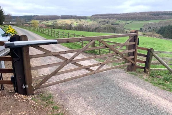 5-Bar gate wood rural farm